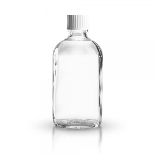 Klarglas Tropfflasche 100ml + Schraubverschluss