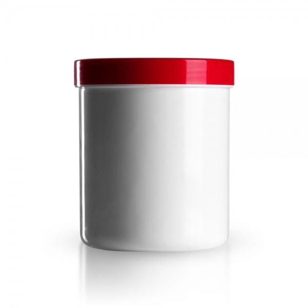 500g/625ml Salbenkruken mit Deckel rot