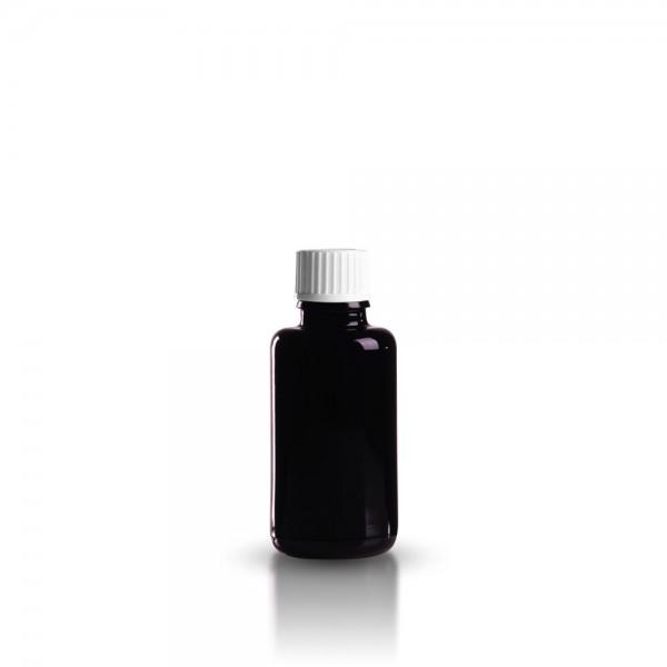 Violettglas Tropferflasche 30ml + Tropfverschluss