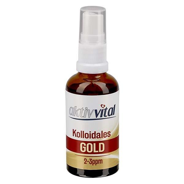 50ml Kolloidales Gold von Aktiv-Vital - Pumpzerstäuber