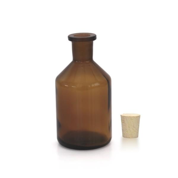 100 ml Steilbrustflasche Enghals inkl. Korken braun