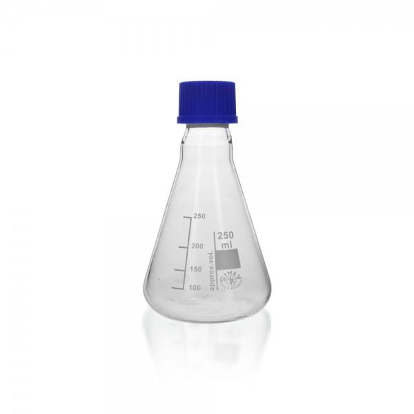 Erlenmeyerkolben 250 ml mit Schraubverschluss