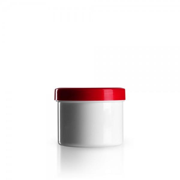 150g - 185ml Salbenkruken mit Deckel rot