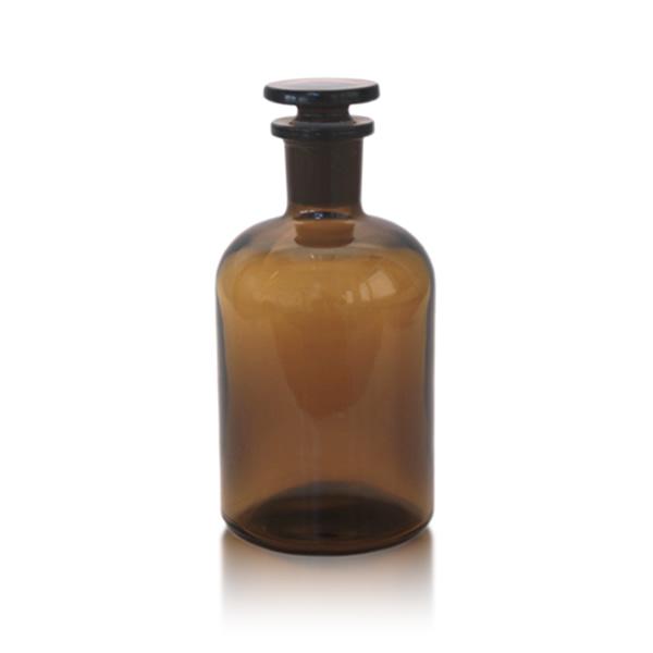 braune flasche mit glasstopfen 250 ml enghals. Black Bedroom Furniture Sets. Home Design Ideas