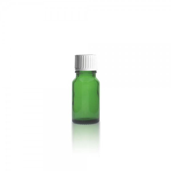 Grüne Tropfflasche 10ml + Tropfverschluss