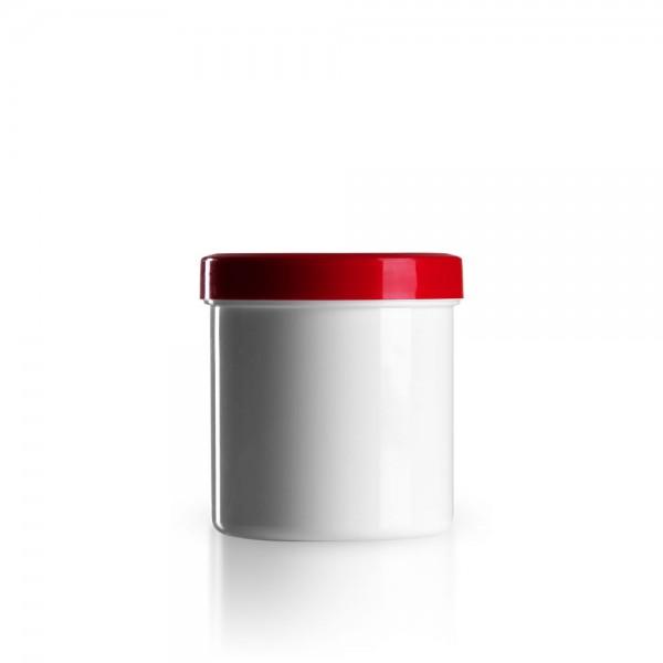 200g - 250ml Salbenkruken mit Deckel rot