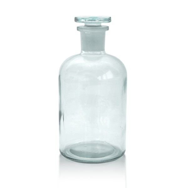 Apothekerflasche 500 ml mit Glasstopfen - Enghals klar