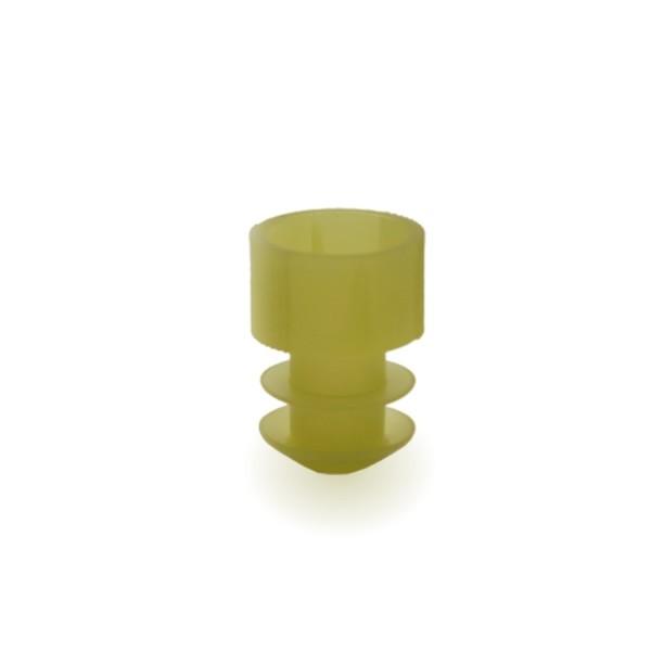 Lamellenstopfen 12mm gelb