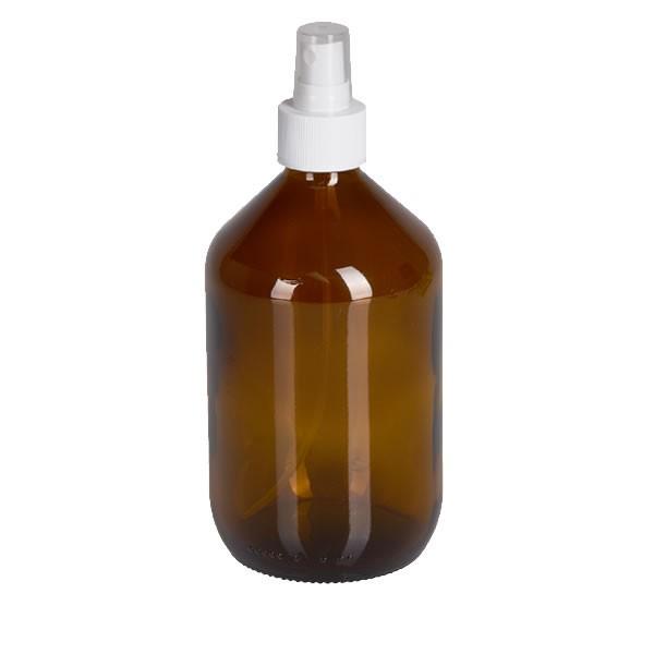 500ml Euro-Medizinflasche mit Zerstäuber weiß
