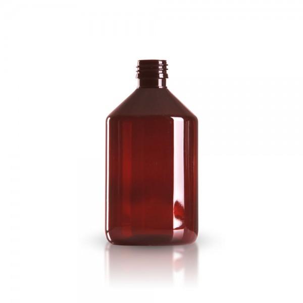 PET Medizinflasche 500 ml braun