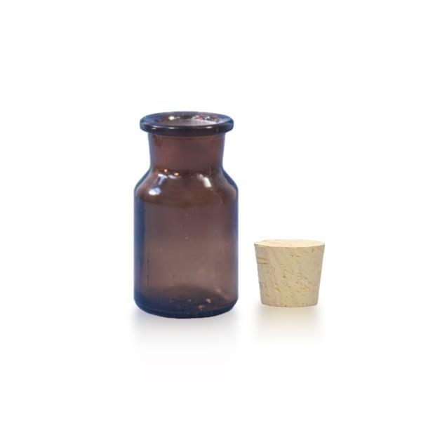 50 ml Steilbrustflasche WH inkl. Korken BG