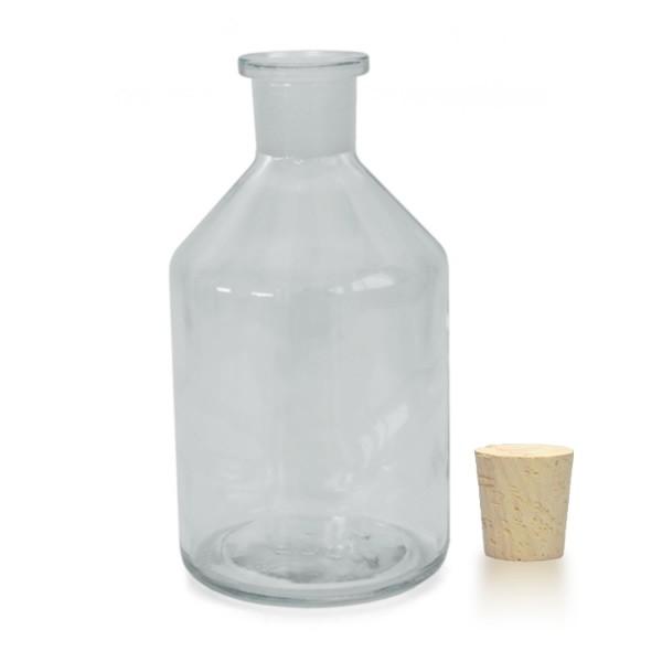500 ml Steilbrustflasche Enghals inkl. Korken klar