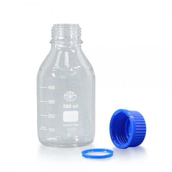 500 ml Laborflasche Glas + Schraubverschluss