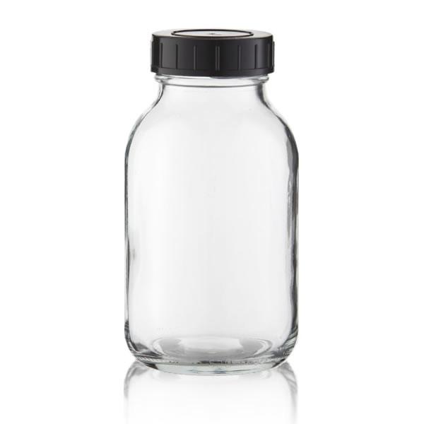 Weithalsflasche klarglas + Deckel 500ml