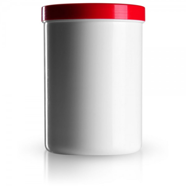 1250ml Salbenkruken mit Deckel rot