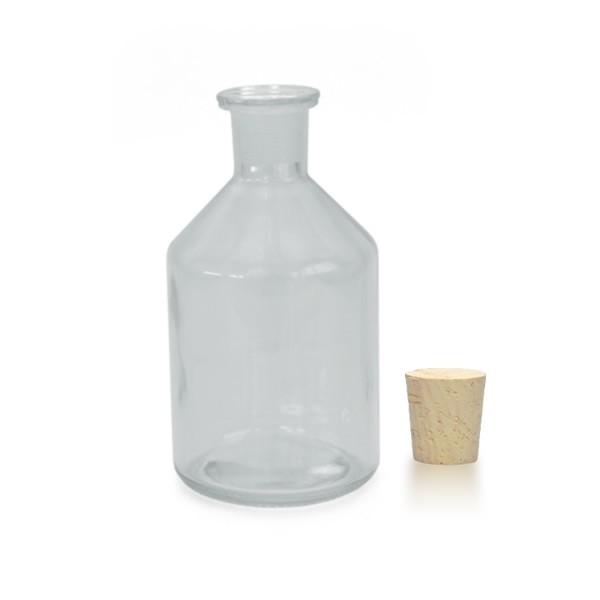 250 ml Steilbrustflasche Enghals inkl. Korken klar