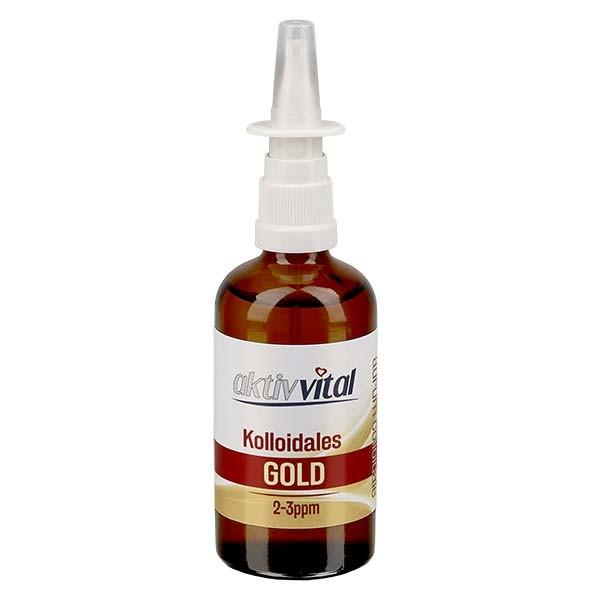 100ml Kolloidales Gold von Aktiv-Vital - Nasenzerstäuber
