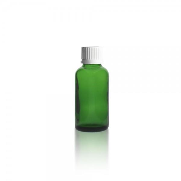 Grüne Tropfflasche 30ml + Schraubverschluss
