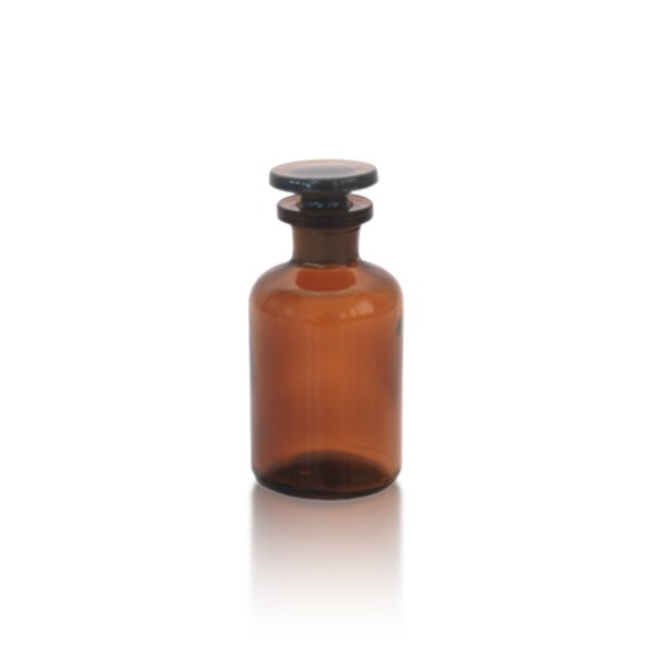 Apothekerflasche 50 ml EH + Glasstopfen braun