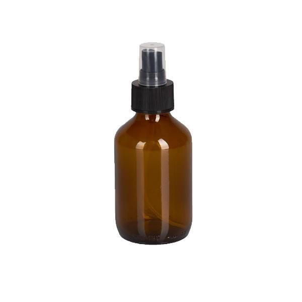 150ml Euro-Medizinflasche mit Zerstäuber schwarz