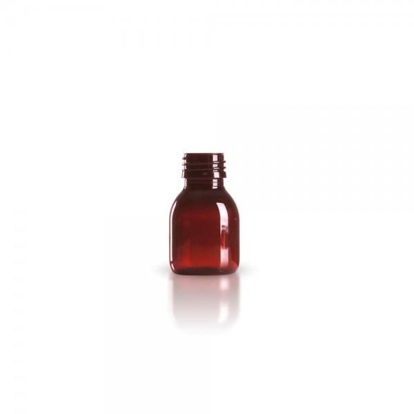 PET Medizinflasche 60 ml braun