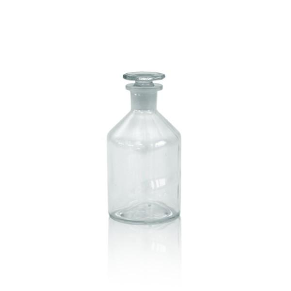 50 ml Steilbrustflasche EH + NS-Glasstopfen klar