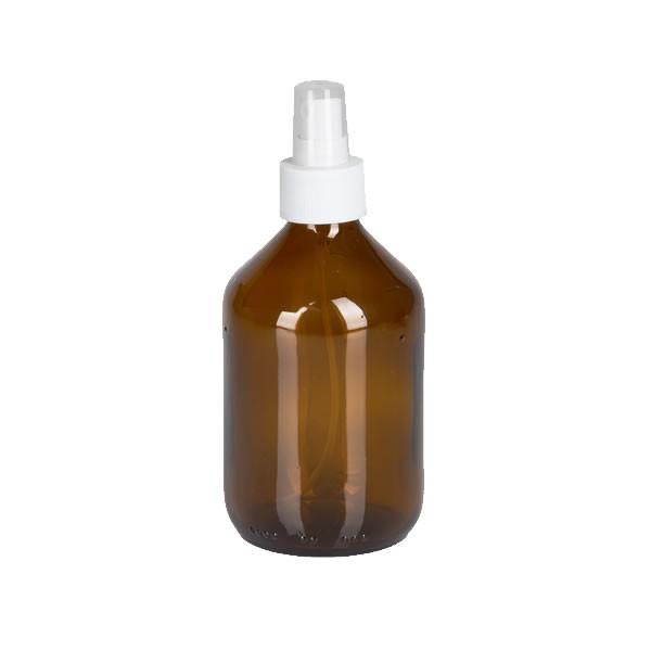 300ml Euro-Medizinflasche mit Zerstäuber weiß
