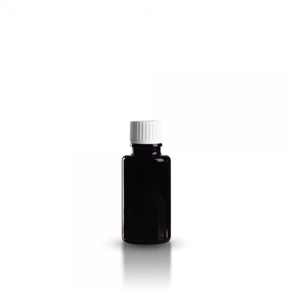 Violettglas Tropfflasche 20ml + Tropfverschluss