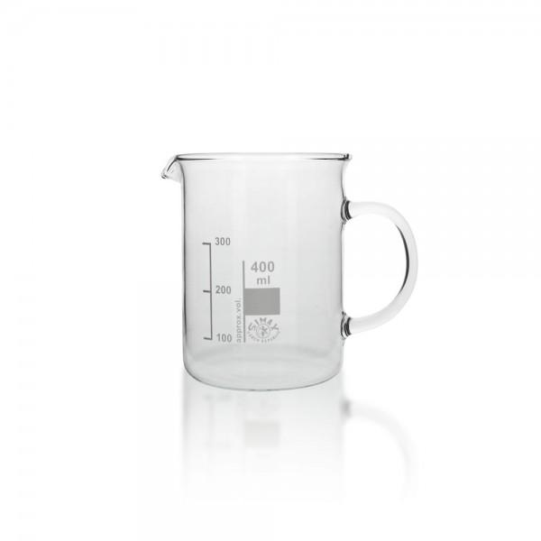 Becherglas mit Henkel 400ml