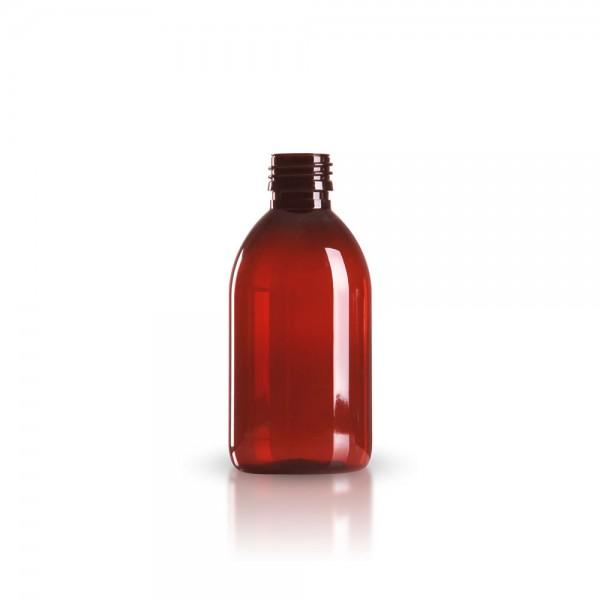 PET Medizinflasche 250 ml braun