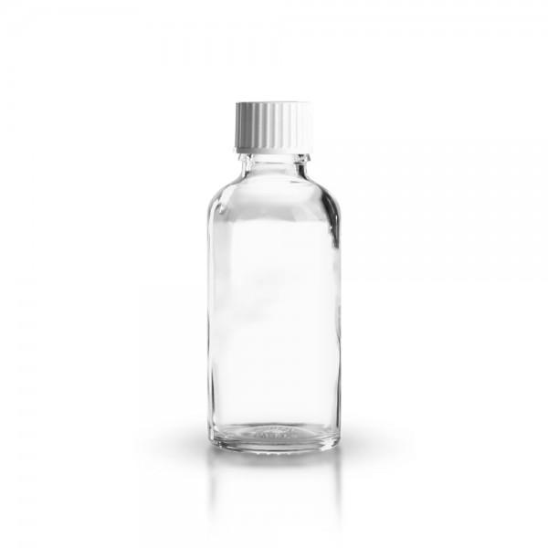 Klarglas Tropfflasche 50ml + Schraubverschluss