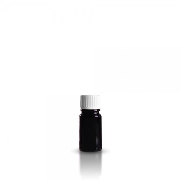 Violettglas Tropfflasche 5ml + Tropfverschluss