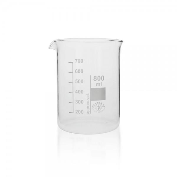 Becherglas 800 ml niedrige Fprm