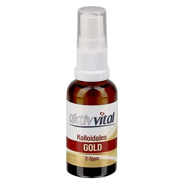 30ml Kolloidales Gold von Aktiv-Vital - Pumpzerstäuber
