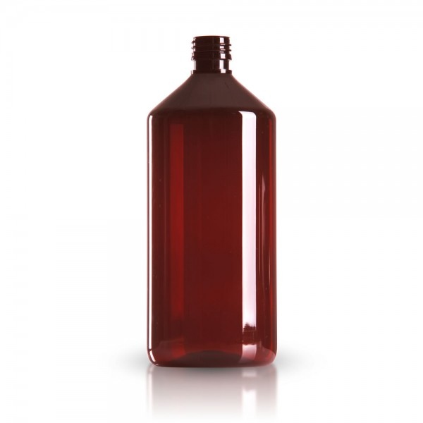 PET Medizinflasche 1000 ml braun