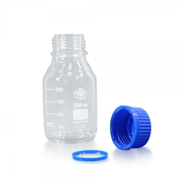250 ml Laborflasche Glas + Schraubverschluss