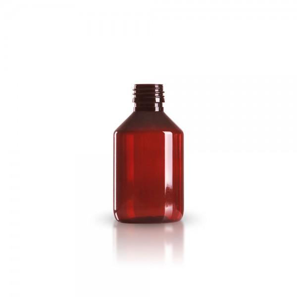 PET Medizinflasche 200 ml braun