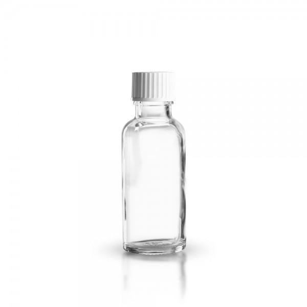 Klarglas Tropfflasche 30ml + Schraubverschluss