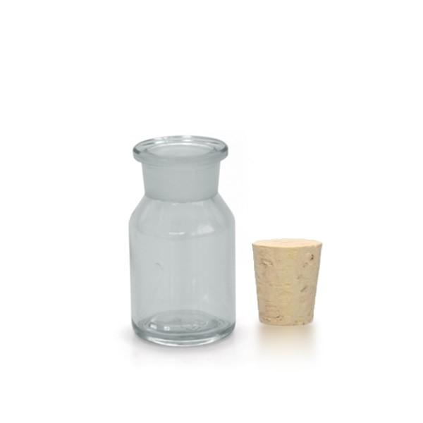 50 ml Steilbrustflasche Enghals inkl. Korken klar