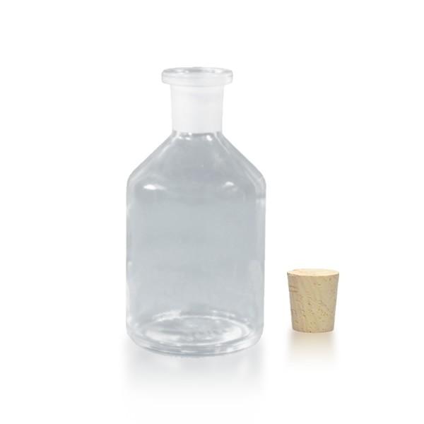 100 ml Steilbrustflasche Enghals inkl. Korken klar