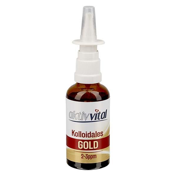 50ml Kolloidales Gold von Aktiv-Vital - Nasenzerstäuber