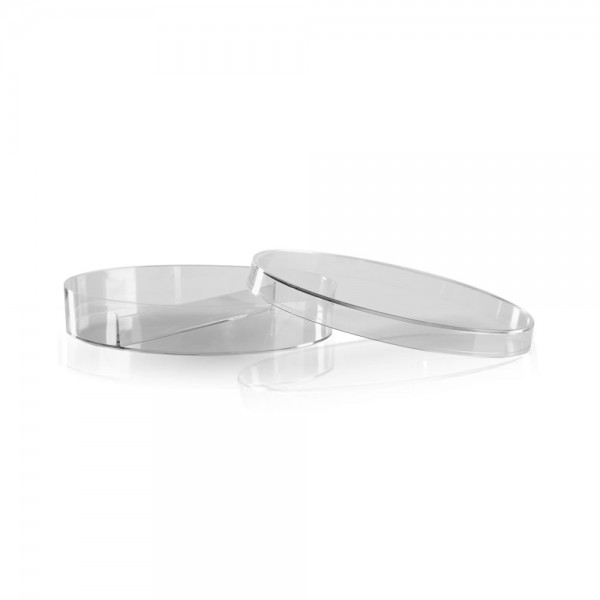 Petrieschale Kunststoff 94mm aus Polystyrol zweigeteilt