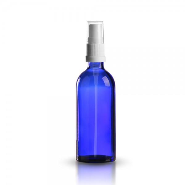 Tropfflasche blau 100ml + Pumpverschluss