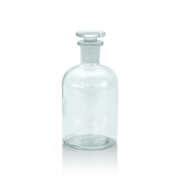 Apothekerflasche 250 ml EH + Glasstopfen klar