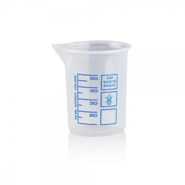 Messbecher 50ml Kunststoff