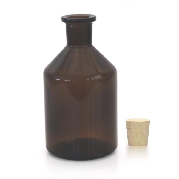 250 ml Steilbrustflasche Enghals inkl. Korken braun