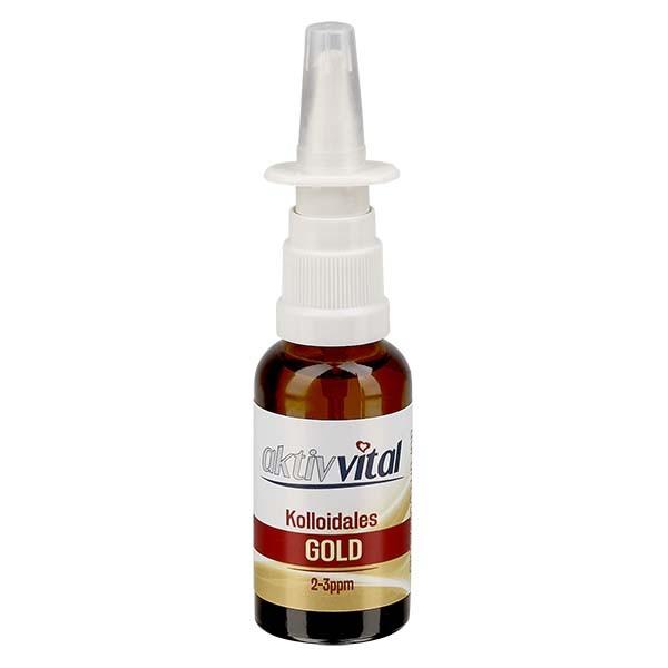 30ml Kolloidales Gold von Aktiv-Vital - Nasenzerstäuber