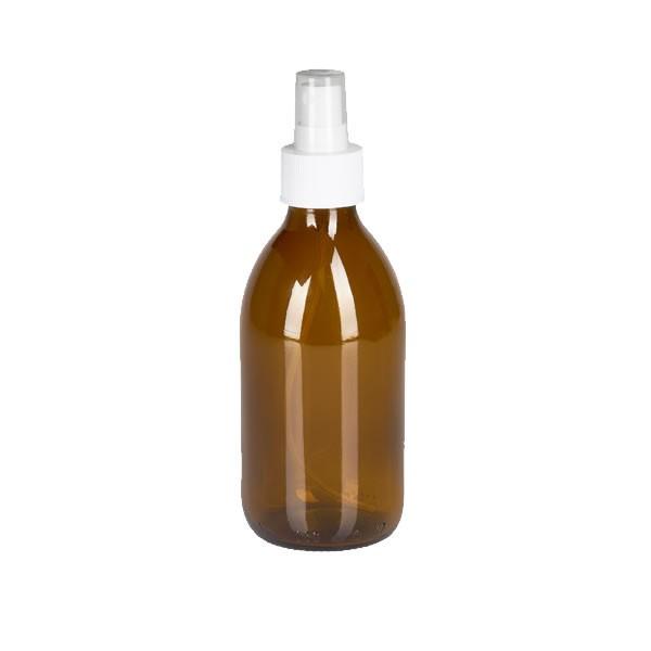 250ml Euro-Medizinflasche mit Zerstäuber weiß