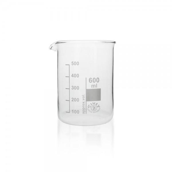 Becherglas 600 ml niedrige Fprm
