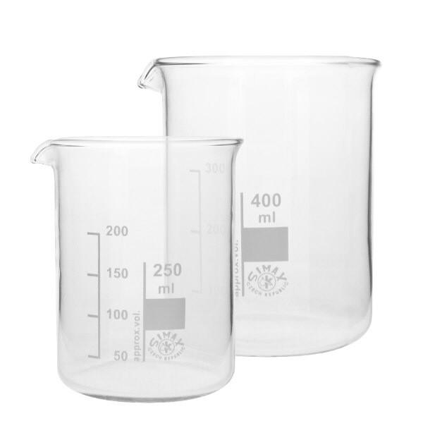 Becherglas Set aus hitzefestem Borosilikatglas
